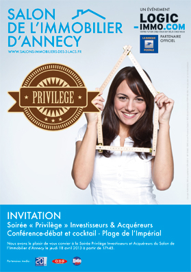 Invitation privilege salon immobilier d 39 annecy 2018 for Logic immo haute savoie